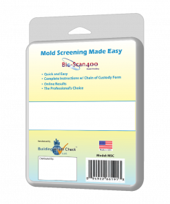 Back of Mold Test Kit - Test for Mold - Indoor Air Quality