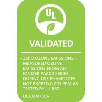 Plasma Air 600 is UL2998 and UL867, Zero Ozone