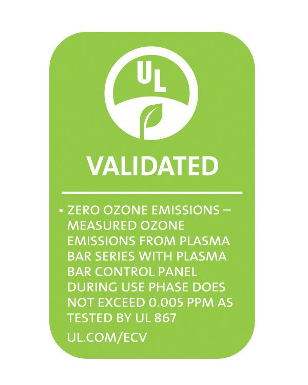 Plasma Air Bar UL Validated Zero Ozone UL867 UL2998