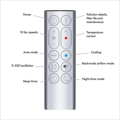 Dyson HP04 Tower Pure Hot Cool Air Purifier Hot and Cold Air Purifier Remote and Wifi