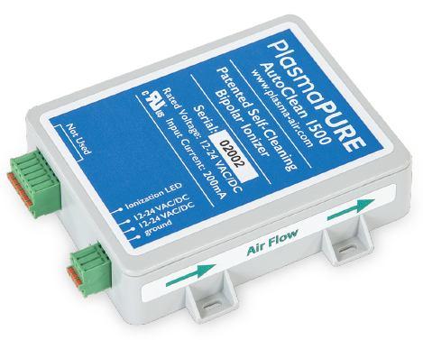 PlasmaPure AutoClean 1500 needlepoint bipolar ionization